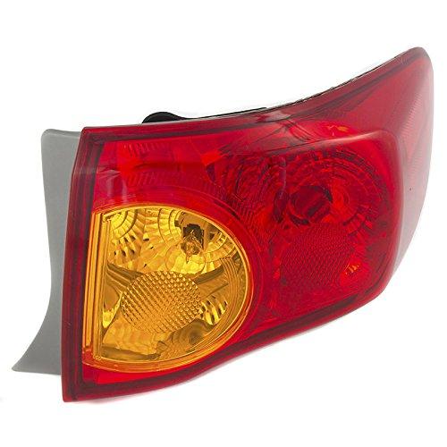 CarPartsDepot Rear Bumper Brake Light Lamp Right Side Fit 09-10 Toyota Corolla TO2801175