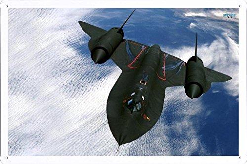 Aircraft Tin Sign Lockheed Sr 71 Blackbird 6255 by Waller's Decor (Aircraft Sign)