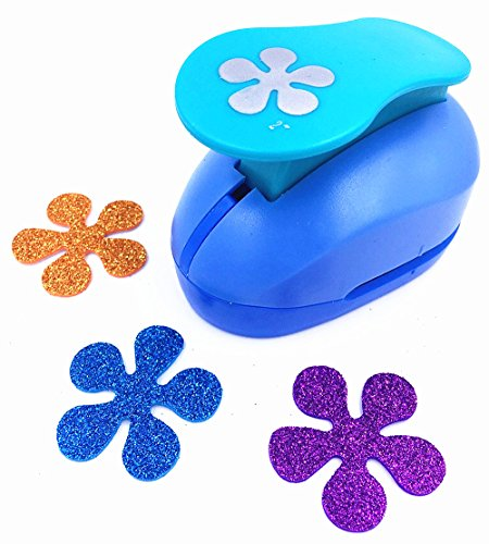 TECH-P Creative Life 2- Inch Multi-pattern Hand Press Album Cards Paper Craft Punch,card Scrapbooking Engraving Kid Cut DIY Handmade Hole Puncher,Paper Craft Punch. (Flower 5)
