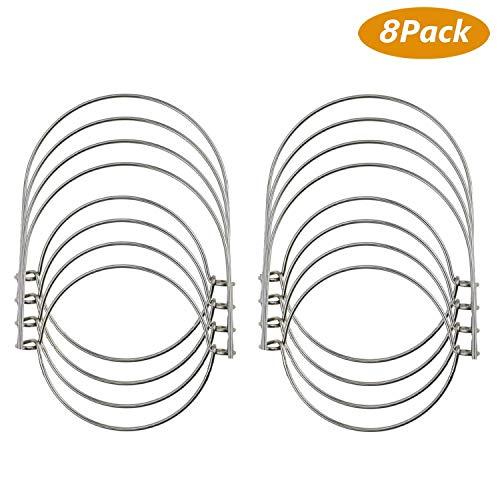 (TedGem 8 Pack Wire Handles (Handle-Ease) for Mason, Stainless Steel Mason Jar Hanger, Canning Jars Hanger, Hanging Jars, Jar hanging Hook for Regular Mouth Mason,)