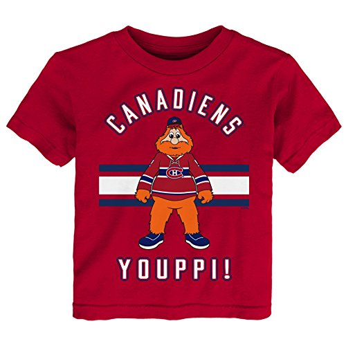 NHL Montreal Canadiens Children Unisex Mascot Life Short Sleeve Tee, 4T, Red (Hockey Montreal Nhl)