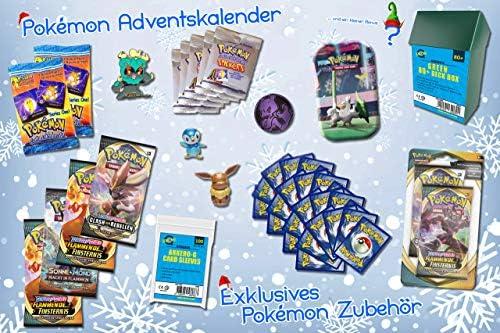 Arkero-G Pokemon Adventskalender 2020 - zum selbst gestalten und befüllen -Weinachts-Geschenk-Set- Sammelkarten & Zubehör Kalender
