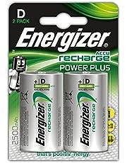 PilesD rechargeables EnergizerRecharge PowerPlus, pack de 2