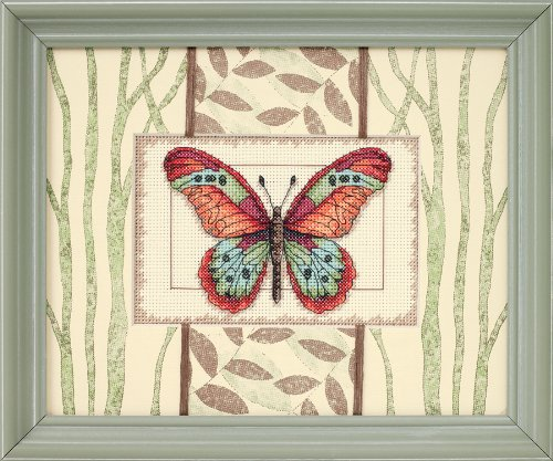 UPC 088677650261, Dimensions Needlecrafts Counted Cross Stitch, Butterfly And Leaves
