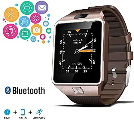 Bluetooth Smartwatch DZ09 Fitness Tracker - with With Camera Pedometer, Sleep Monitor Smart Watch Phone Message Notifications,Watch Cell Phones ...