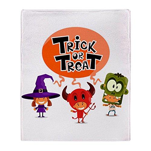 Stadium Throw Blanket Halloween Trick or Treat Kids]()