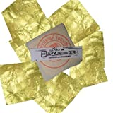 Facial Mask Icon - Bazaar Decor® 15 Homemade Edible Gold Leaf Sheets 24 K - 999/1000 Real Gold for Facial Mask (1 Set = 15 Gold Leaf)