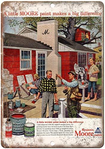 ベンジャミン・ムーアが家の絵を描く 金属板ブリキ看板注意サイン情報サイン金属安全サイン警告サイン表示パネル
