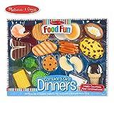 Melissa & Doug Food Fun Combine & Dine Dinners Toy, Blue