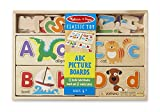 Melissa & Doug ABC Picture Boards - Educational Toy With 13 Double-Sided Wooden Boards and 52 Letters