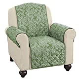 Collections Etc Paisley Reversible Furniture Protector Cover, Sage, Chair