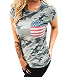 AMiERY-Womens-Short-Sleeve-Camo-Patriotic-Tops-American-Flag-Pocket-T-Shirt