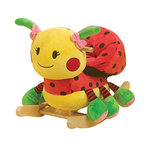 Lulu Ladybug Rocker- Product Type: Animals-Color: Red and Yellow- Additional Materials: Maple- Country of Manufacture: United States* by Rockabye