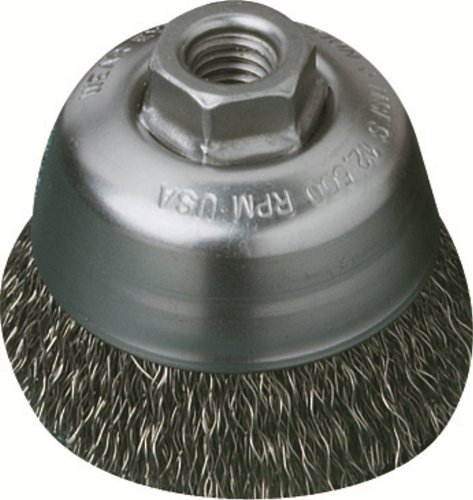United Abrasives/SAIT 03513 3-1/2-Inch by .014-Inch by 5/8-11 Crimped Carbon Steel, 1-Pack