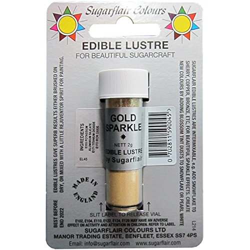 50 x Sugarflair Edible Gold Sparkle Lustre Dust Powder Cake Icing Food Colour