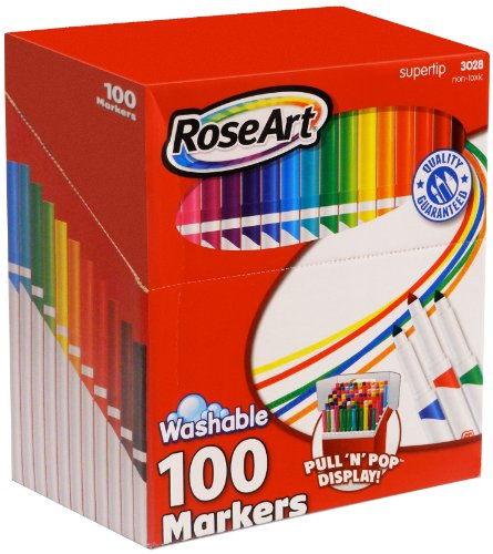 roseart-supertip-assorted-color-washable-markers-100-pack