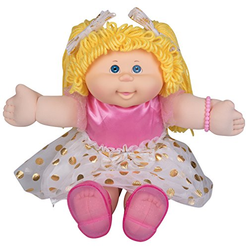 Cabbage Patch Kids Vintage Retro Style Yarn Hair Doll - Original Blonde Hair/Blue Eyes, 16