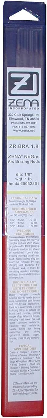 "ZENA 1//8/"" NO-Gas All Aluminum Arc Welding Rods"