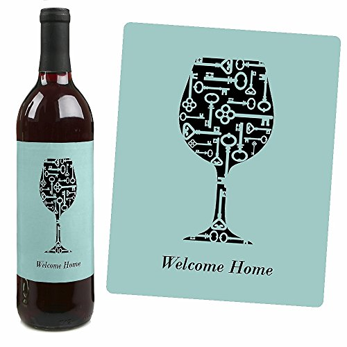 Home sweet home wine bottle labels housewarming gift for Best wine for housewarming gift