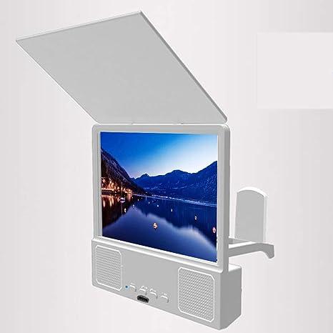 lunch box Teléfono Lupa De La Pantalla con El Altavoz Bluetooth, 3D Ampliar HD Pantalla del Teléfono Móvil con Amplificador Plegable Soportes para Películas Lupa,Blanco: Amazon.es: Hogar