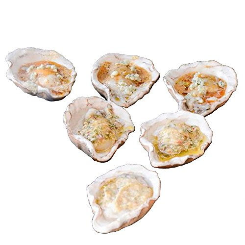Loftin Oysters Ceramic Reusable Chargrilling Oyster Shell, Set of 12. Great for Seafood of all Kinds. Made in the USA. ()