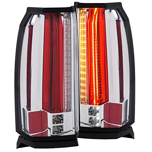Anzo USA 311277 Tail Light Assembly Clear Lens Chrome Housing Pair w/LED Tail Light Assembly