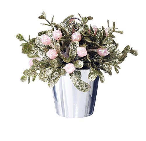 Kissing Krystals Mini Pink Mistletoe Topiary with Place Card Holder (Topiary Card)