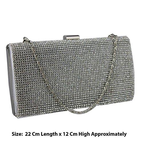 TrendStar - Cartera de mano para mujer Plata plata Small Plata - Silver S-2