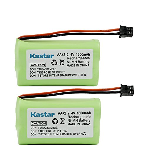 Kastar 2-Pack Home Cordless Phone Battery Replacement for BT-1007 BT1007 BT1015 BT904 BBTY0460001 BBTY0510001 BBTY0624001 BBTY0700001 Panasonic HHR-P506A Radio Shack 23-9096 43-3533 43-3534 43-3541