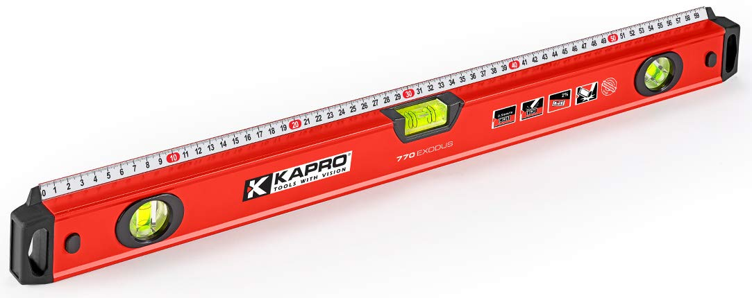 Kapro 770-42-48 Exodus Professional Box Level with 45° Vial & Ruler, 48-Inch Length