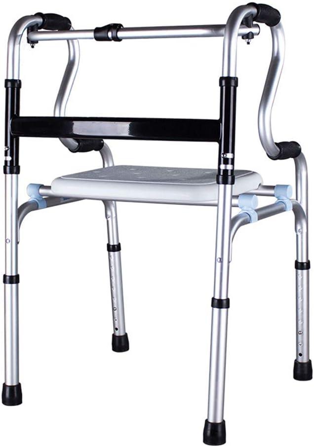 OUG Andador Plegable para Personas Mayores obesas, Estructura Ligera para Caminar, Andador discapacitado,Adecuado para Personas con Movilidad Reducida, discapacitado