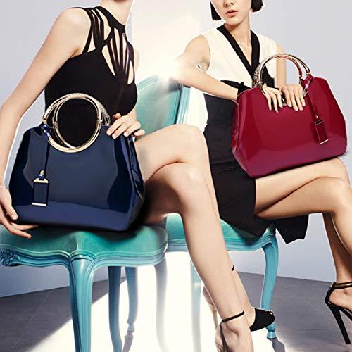 Sapphire Borsa in tracolla con semplice con tracolla pelle da in tracolla manico PU a pelle a Messenger tracolla donna rrwqvUxB