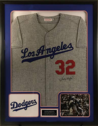 (Sandy Koufax Signed Los Angeles Dodgers Jersey - Deluxe Frame)