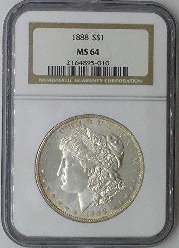 1888 P Morgan $1 MS64 NGC Silver Dollar Old US Coin 90% Silver