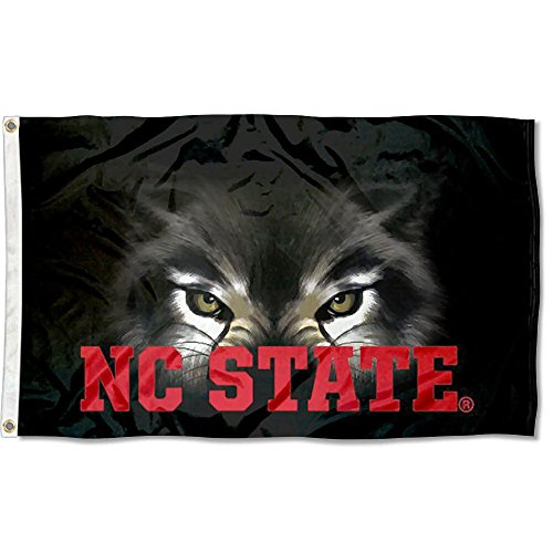 NC State Wolfpack Pack Eyes College Flag (Nc State University)