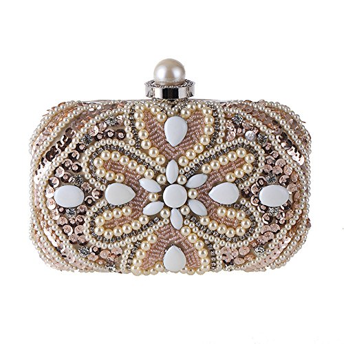 And Fashion Winter Package Pearl Dinner Banquet Diamond Bag Champagne Autumn TCOqdWUwq