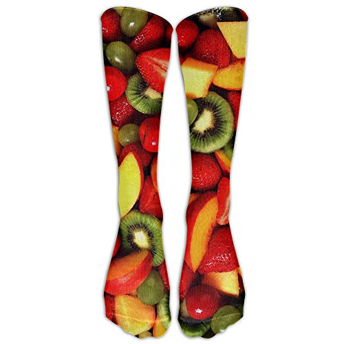 DaSOC Strawbery Fresh Fruits And Vegetables Unisex Novelty Knee High Socks Athletic Tube Stockings One Size (Fruit And Vegetable Of The Month Club)