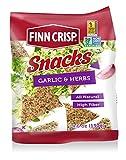 Finn Crisp Rye Snacks, Garlic & Herb, 4.6 Ounce (Pack of 5)