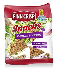 Amazon.com: Finn Crisp Rye Snacks, Garlic & Herb, 4.6