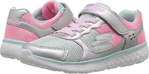 Skechers Kids Womens Go Run 400 (Little Kid/Big Kid) Silver/Multi 4 Big Kid M