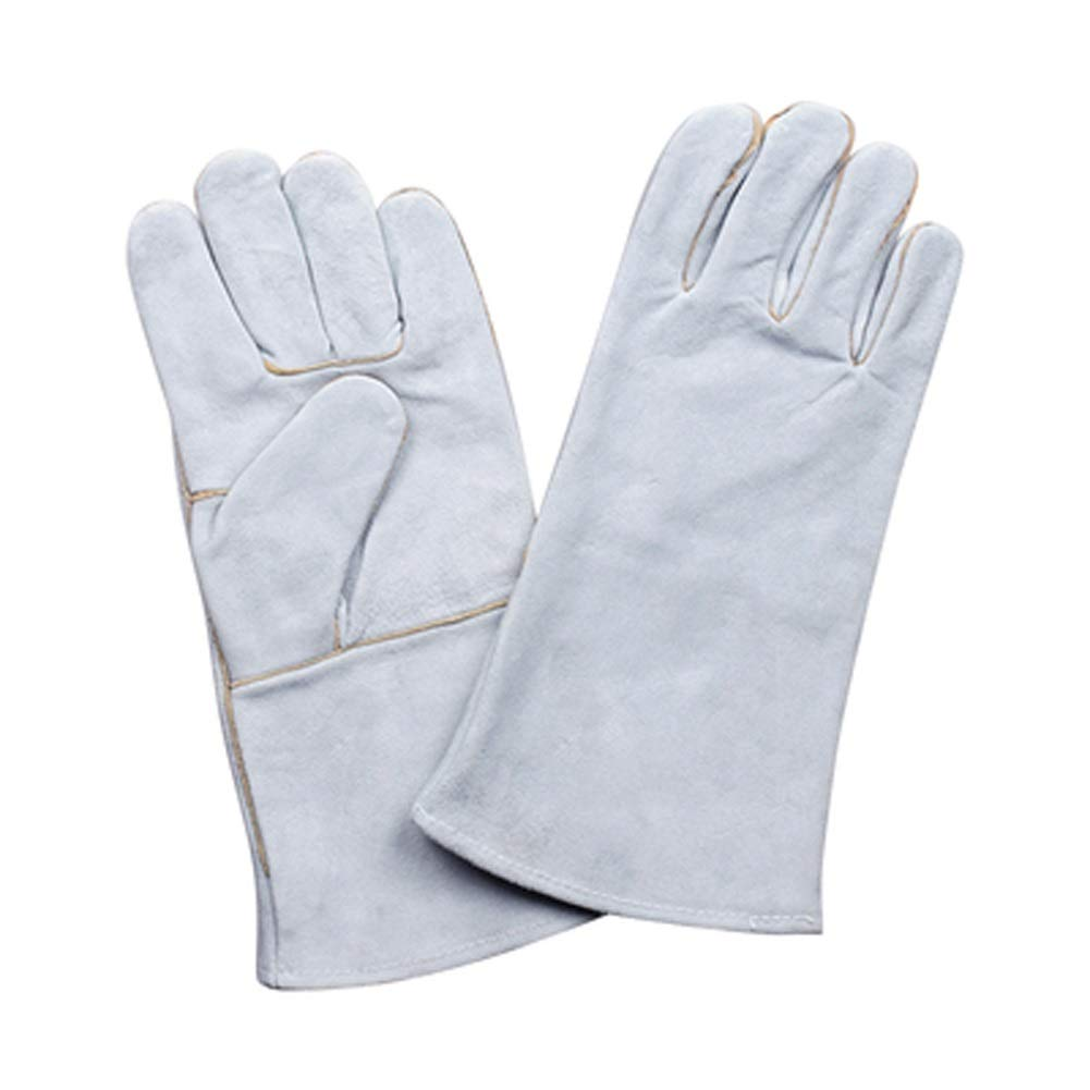 AINIYF Welding Gloves Heat/Fire Resistant Leather Forge BBQ Gloves Perfect For Fireplace, Stove, Oven, Grill, Mig, Pot Holder, Animal Handling With Long Sleeve (Size : A-35cm)