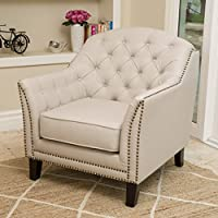 Christopher Knight Home 296908 Coat Bridge Arm Chair, Beige