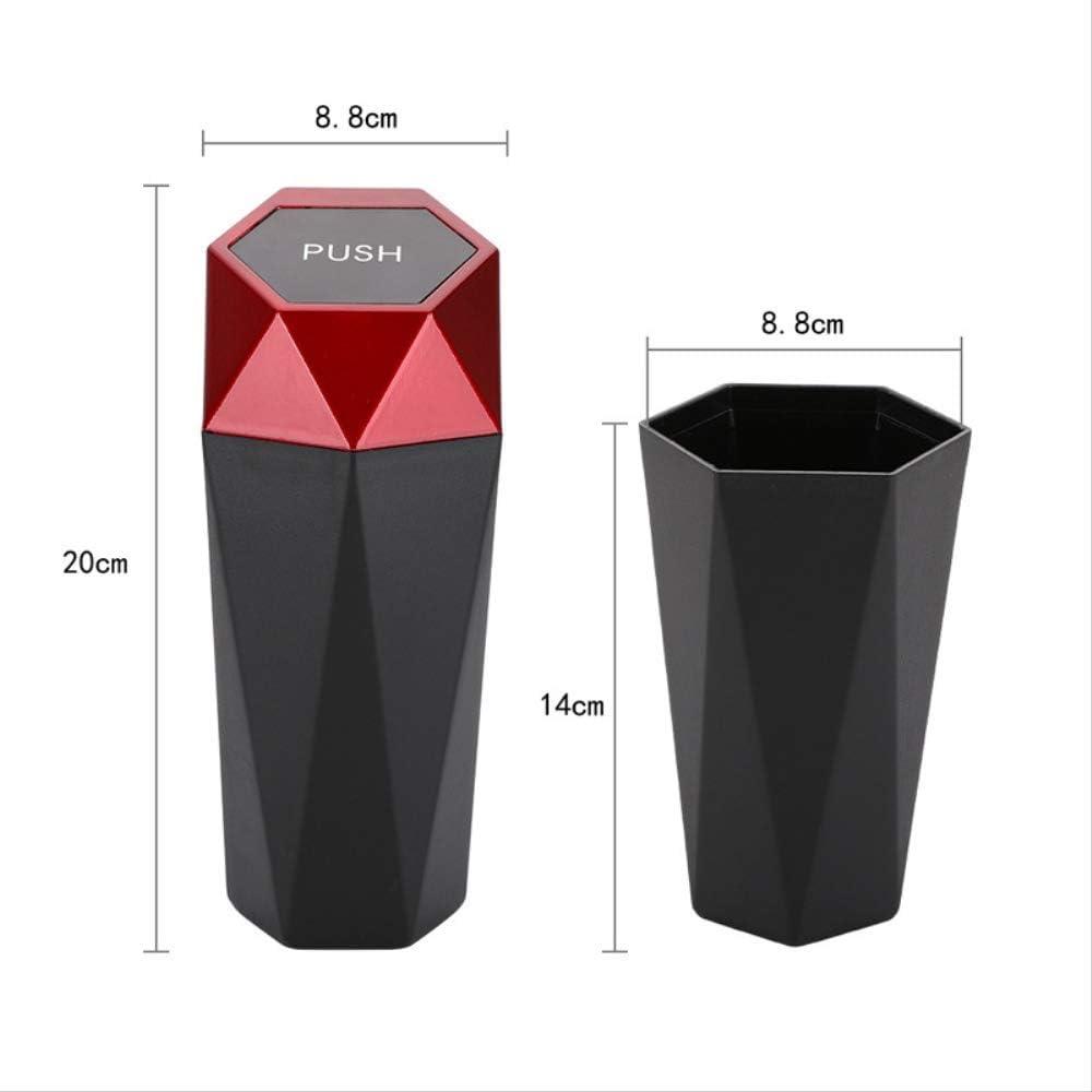 Car Mini Trash Can/Car Cup Holder Trash Can/Desktop Storage Box/Silver