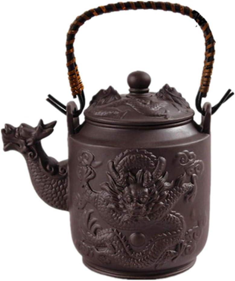 Tetera Hierro Fundido Tetera De Cerámica 780Cc Dragon Purple Clay Tea Pot Zisha Kettle Kung Fu Drinkware Gran Capacidad