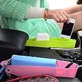 Car Seat Slit Pocket Pouch Storage Box Bag Organizer - Black