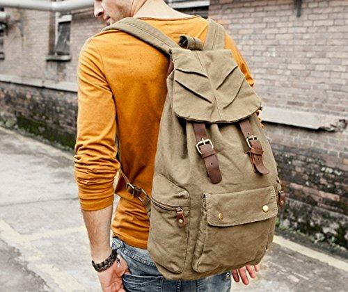 les sac dos à sac pour vintage khaki homme Nouveau femme dos grün sports à fq0xdwfE