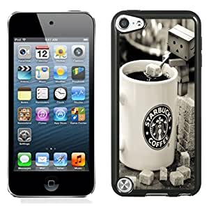 Beautiful Unique Designed iPod Touch 5 Phone Case With Starbucks Coffee Danboard Sugar_Black Phone Case