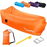 kilofly Inflatable Lounger Waterproof Portable Couch Beach Camp Bag Air Sofa Bed