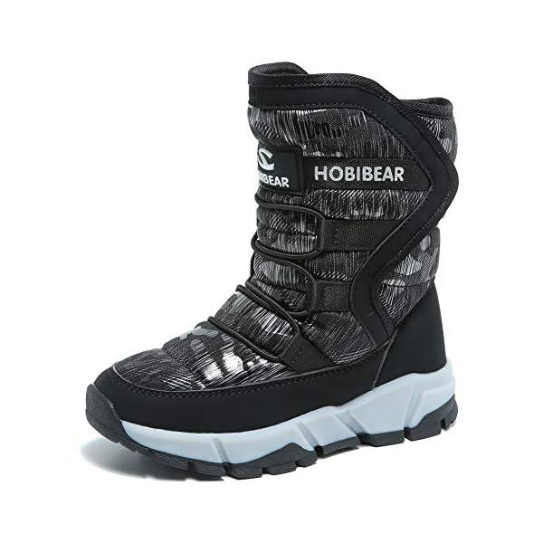 Kerrian Online Fashions 514DAJCRVIL BODATU Boys Snow Boots Outdoor Waterproof Winter Kids Shoes