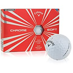 The new Chrome Soft takes a ball that has completely redefined golf ball performance and elevates it to another level. It has the proprietary Dual Soft Fast Core for fast ball speed from the driver, 4-piece construction leading to even more c...